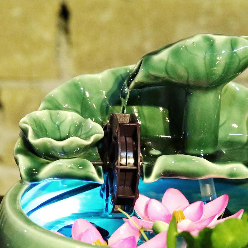 Thác nước phong thủy mini để bàn