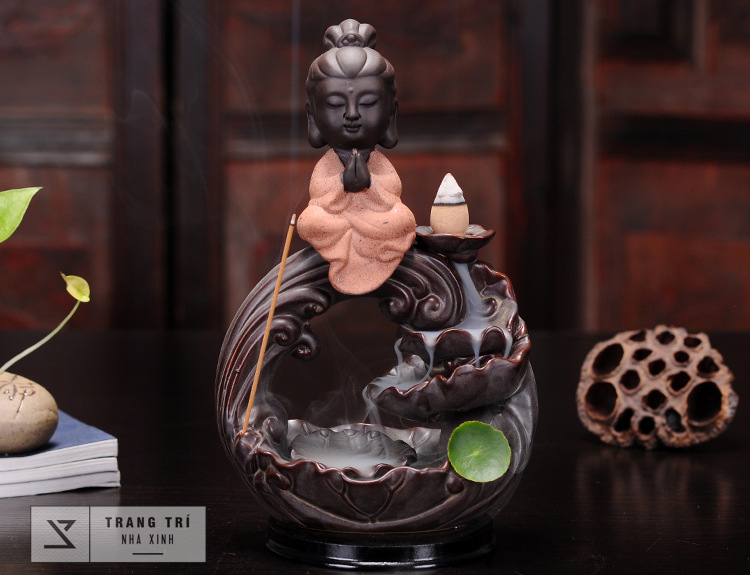 Thác khói trầm hương Phật Bà vi thiền